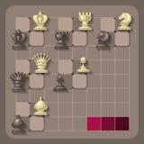Διανυσματική απεικόνιση των κομματιών σκακιού Στοκ Εικόνα