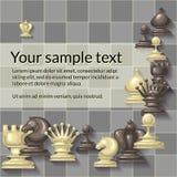 Διανυσματική απεικόνιση των κομματιών σκακιού Στοκ Φωτογραφίες