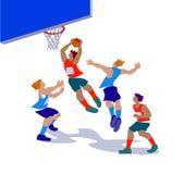 Διανυσματική απεικόνιση των παίχτης μπάσκετ στη δράση Ελεύθερη απεικόνιση δικαιώματος