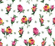 Διανυσματική απεικόνιση των ρόδινων και κίτρινων τριαντάφυλλων Στοκ Φωτογραφία
