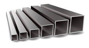 Διανυσματική απεικόνιση των τετραγωνικών σωλήνων σιδήρου σε ένα άσπρο υπόβαθρο διανυσματική απεικόνιση