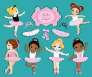 3ce8711ad11 Διανυσματική απεικόνιση των χαριτωμένων μικρών ballerinas ελεύθερη  απεικόνιση δικαιώματος
