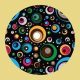 Διανυσματική απεικόνιση των χρωματισμένων κύκλων Στοκ φωτογραφία με δικαίωμα ελεύθερης χρήσης