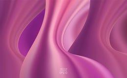 Διανυσματική απεικόνιση: Υγρό κυματιστό υπόβαθρο abstract backdrop trendy Στοκ Εικόνες