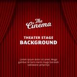 Διανυσματική απεικόνιση υποβάθρου κουρτινών θεάτρων η κόκκινη ρεαλιστική κουρτίνα βελούδου για τον κινηματογράφο, δράμα, τσίρκο,  ελεύθερη απεικόνιση δικαιώματος