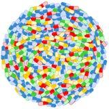 Διανυσματική απεικόνιση υποβάθρου κύκλων χαπιών Στοκ φωτογραφία με δικαίωμα ελεύθερης χρήσης