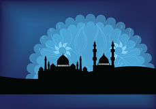 Διανυσματική απεικόνιση υποβάθρου μουσουλμανικών τεμενών Στοκ εικόνα με δικαίωμα ελεύθερης χρήσης