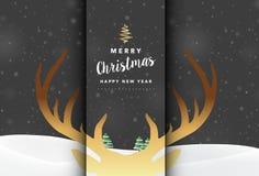 Διανυσματική απεικόνιση υποβάθρου Χαρούμενα Χριστούγεννας Στοκ Φωτογραφίες