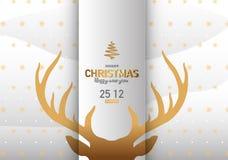 Διανυσματική απεικόνιση υποβάθρου Χαρούμενα Χριστούγεννας Στοκ φωτογραφίες με δικαίωμα ελεύθερης χρήσης