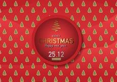 Διανυσματική απεικόνιση υποβάθρου Χαρούμενα Χριστούγεννας Στοκ φωτογραφία με δικαίωμα ελεύθερης χρήσης