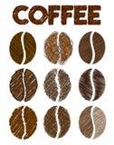 Διανυσματική απεικόνιση φασολιών καφέ grunge Στοκ φωτογραφία με δικαίωμα ελεύθερης χρήσης