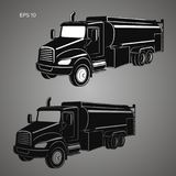 Διανυσματική απεικόνιση φορτηγών δεξαμενών Σύγχρονο απομονωμένο βυτιοφόρο διάνυσμα διανυσματική απεικόνιση
