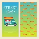 Διανυσματική απεικόνιση φορτηγών τροφίμων οδών Στοκ εικόνες με δικαίωμα ελεύθερης χρήσης