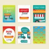 Διανυσματική απεικόνιση φορτηγών τροφίμων οδών Στοκ Φωτογραφίες