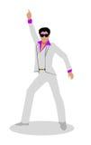 Διανυσματική απεικόνιση χορευτών Disco στο επίπεδο σχέδιο Στοκ φωτογραφίες με δικαίωμα ελεύθερης χρήσης