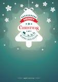 Διανυσματική απεικόνιση Χριστουγέννων - μαγική υπόβαθρο, ιπτάμενο ή πρόσκληση Στοκ εικόνες με δικαίωμα ελεύθερης χρήσης