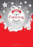 Διανυσματική απεικόνιση Χριστουγέννων - μαγική υπόβαθρο, ιπτάμενο ή πρόσκληση Στοκ Φωτογραφία