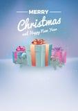 Διανυσματική απεικόνιση Χριστουγέννων - μαγική υπόβαθρο, ιπτάμενο ή πρόσκληση Στοκ Εικόνες