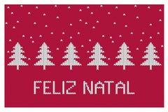 Διανυσματική απεικόνιση Χριστουγέννων Feliz γενέθλιος-εύθυμη Αφηρημένα άσπρα χριστουγεννιάτικα δέντρα απεικόνιση αποθεμάτων