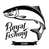 Διανυσματική απεικόνιση ψαριών σολομών Στοκ Εικόνα
