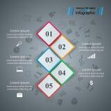 Διανυσματική απεικόνιση ύφους origami επιχειρησιακού Infographics ελεύθερη απεικόνιση δικαιώματος