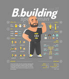 Διανυσματική απεικόνιση Bodybuilding Στοκ εικόνες με δικαίωμα ελεύθερης χρήσης