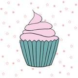 Διανυσματική απεικόνιση cupcake Σύνολο χεριού που σύρεται cupcakes Στοκ φωτογραφίες με δικαίωμα ελεύθερης χρήσης