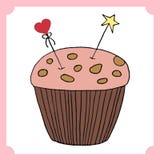 Διανυσματική απεικόνιση cupcake Σύνολο χεριού που σύρεται cupcakes Στοκ Εικόνα
