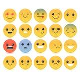Διανυσματική απεικόνιση Emoticon Σύνολο Emoticon απεικόνιση αποθεμάτων