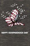Διανυσματική απεικόνιση eps10 καρτών ημέρας της ανεξαρτησίας Στοκ Εικόνες