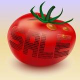 Διανυσματική απεικόνιση eps10 ντοματών πώλησης ελεύθερη απεικόνιση δικαιώματος