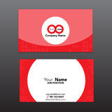 Διανυσματική απεικόνιση eps 10 προτύπων καρτών επιχειρησιακού ονόματος στοκ εικόνες