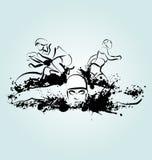 Διανυσματική απεικόνιση triathlon απεικόνιση αποθεμάτων