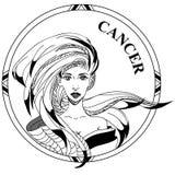 Διανυσματική απεικόνιση zodiac σημαδιών του καρκίνου απεικόνιση αποθεμάτων