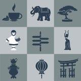 Διανυσματική Ασία οριζόντια μαύρη Στοκ φωτογραφία με δικαίωμα ελεύθερης χρήσης