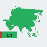 Διανυσματική Ασία Στοκ Εικόνες