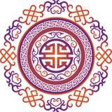 Διανυσματική ασιατική κινεζική διακόσμηση, ασιατικό παραδοσιακό σχέδιο Στοκ φωτογραφία με δικαίωμα ελεύθερης χρήσης