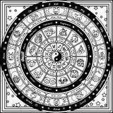Διανυσματική αστρολογική ρόδα τύχης ελεύθερη απεικόνιση δικαιώματος