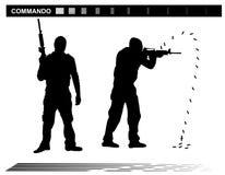 Διανυσματική αστυνομία ομάδας ειδικών δυνάμεων SWAT απεικόνισης Στοκ Φωτογραφίες