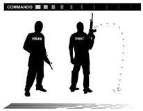 Διανυσματική αστυνομία ομάδας ειδικών δυνάμεων SWAT απεικόνισης Στοκ εικόνες με δικαίωμα ελεύθερης χρήσης