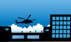 Διανυσματική αστυνομία ομάδας ειδικών δυνάμεων SWAT απεικόνισης Στοκ Εικόνες