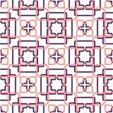 Διανυσματική αφηρημένη άνευ ραφής γεωμετρική αναδρομική ταπετσαρία Στοκ εικόνες με δικαίωμα ελεύθερης χρήσης
