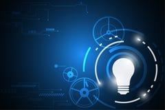 Διανυσματική αφηρημένη έννοια λαμπτήρων τεχνολογίας υποβάθρου Στοκ εικόνα με δικαίωμα ελεύθερης χρήσης