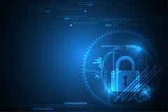 Διανυσματική αφηρημένη έννοια ασφάλειας τεχνολογίας υποβάθρου Στοκ εικόνες με δικαίωμα ελεύθερης χρήσης