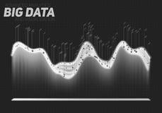 Διανυσματική αφηρημένη απεικόνιση στοιχείων grayscale μεγάλη Φουτουριστικό αισθητικό σχέδιο infographics Οπτικές πληροφορίες Στοκ φωτογραφία με δικαίωμα ελεύθερης χρήσης