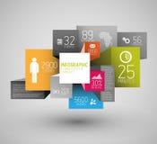 Διανυσματική αφηρημένη απεικόνιση υποβάθρου τετραγώνων και κύβων/infographic πρότυπο Στοκ εικόνα με δικαίωμα ελεύθερης χρήσης