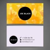 Διανυσματική αφηρημένη δημιουργική επαγγελματική κάρτα Στοκ Εικόνα