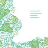 Διανυσματική αφηρημένη κάρτα πρόσκλησης με το πράσινο αφηρημένο κύμα Στοκ Εικόνες