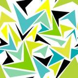 Διανυσματική αφηρημένη μέντα, υπόβαθρο τριγώνων πρότυπο Στοκ εικόνες με δικαίωμα ελεύθερης χρήσης