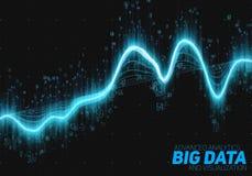 Διανυσματική αφηρημένη μεγάλη απεικόνιση στοιχείων Φουτουριστικό αισθητικό σχέδιο infographics Οπτική πολυπλοκότητα πληροφοριών Στοκ Εικόνες